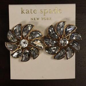Kate Spade Glitter Gala Pinwheel Flower Earrings